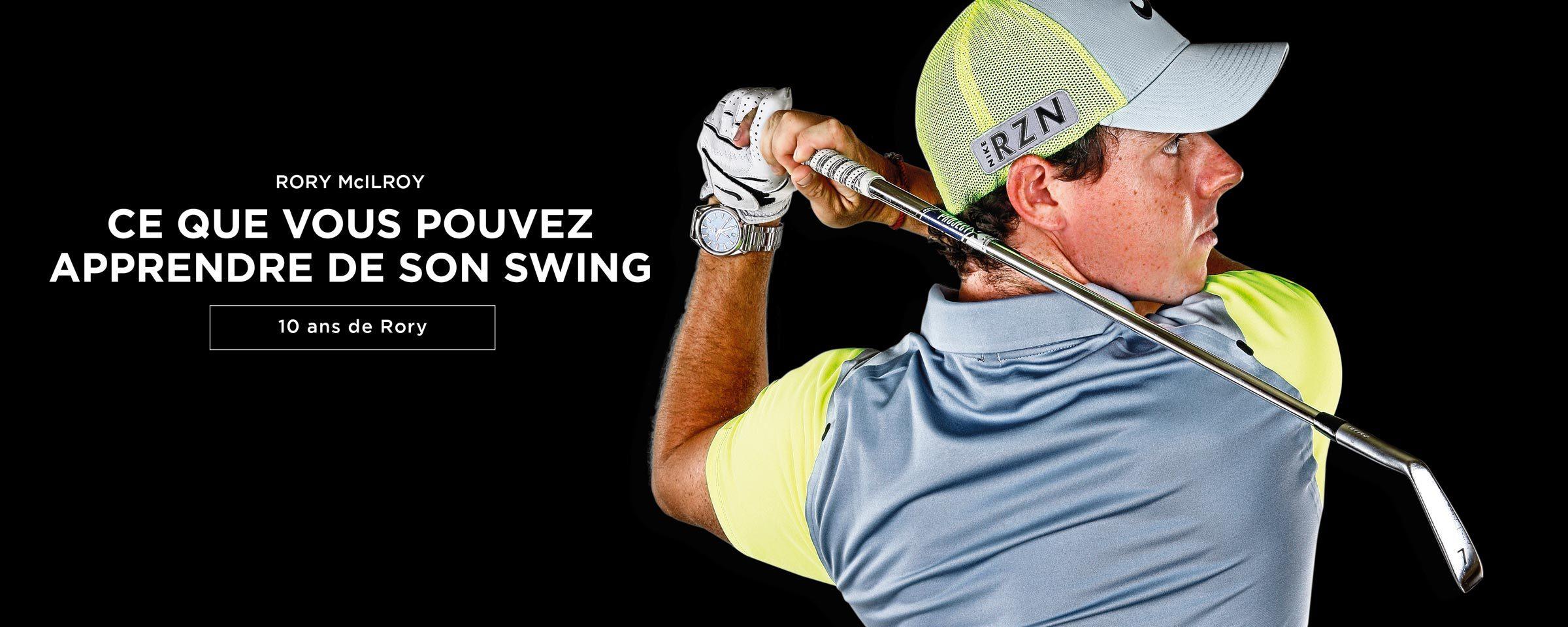 L'evolution du swing de Rory