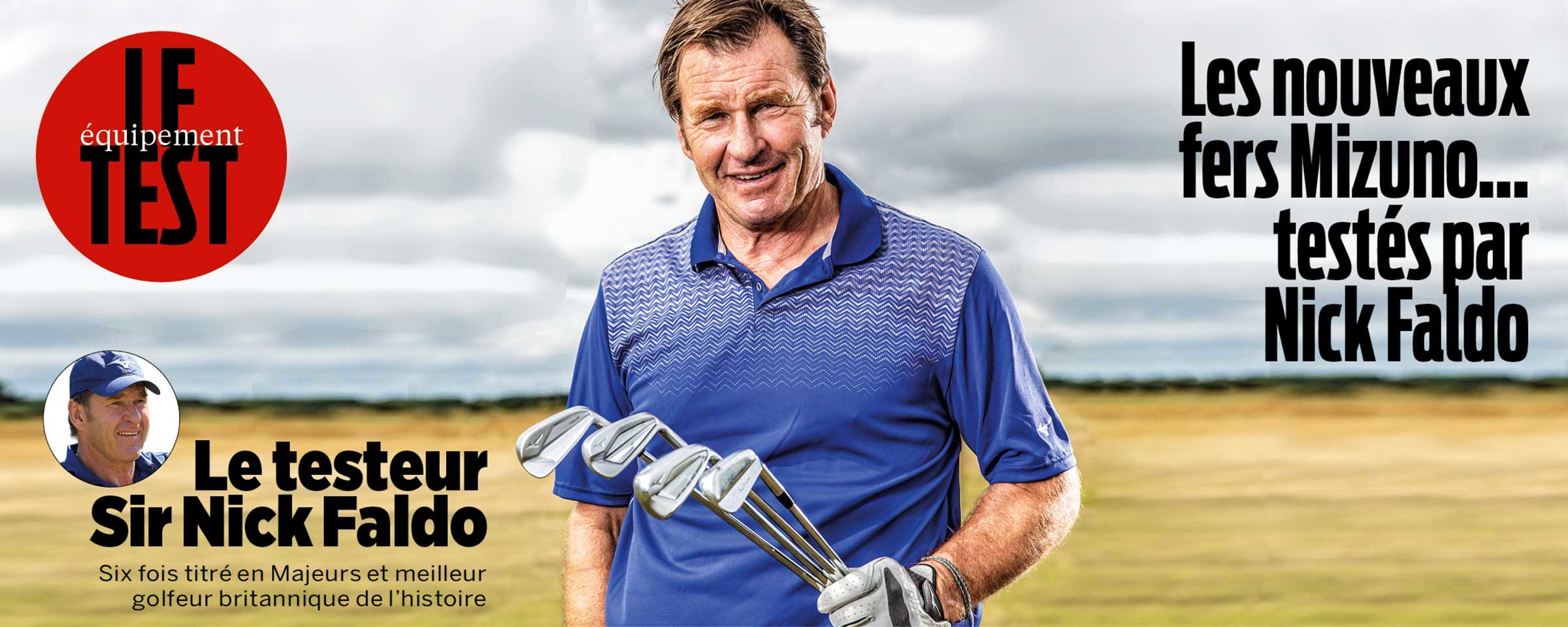 Le testeur Sir Nick Faldo