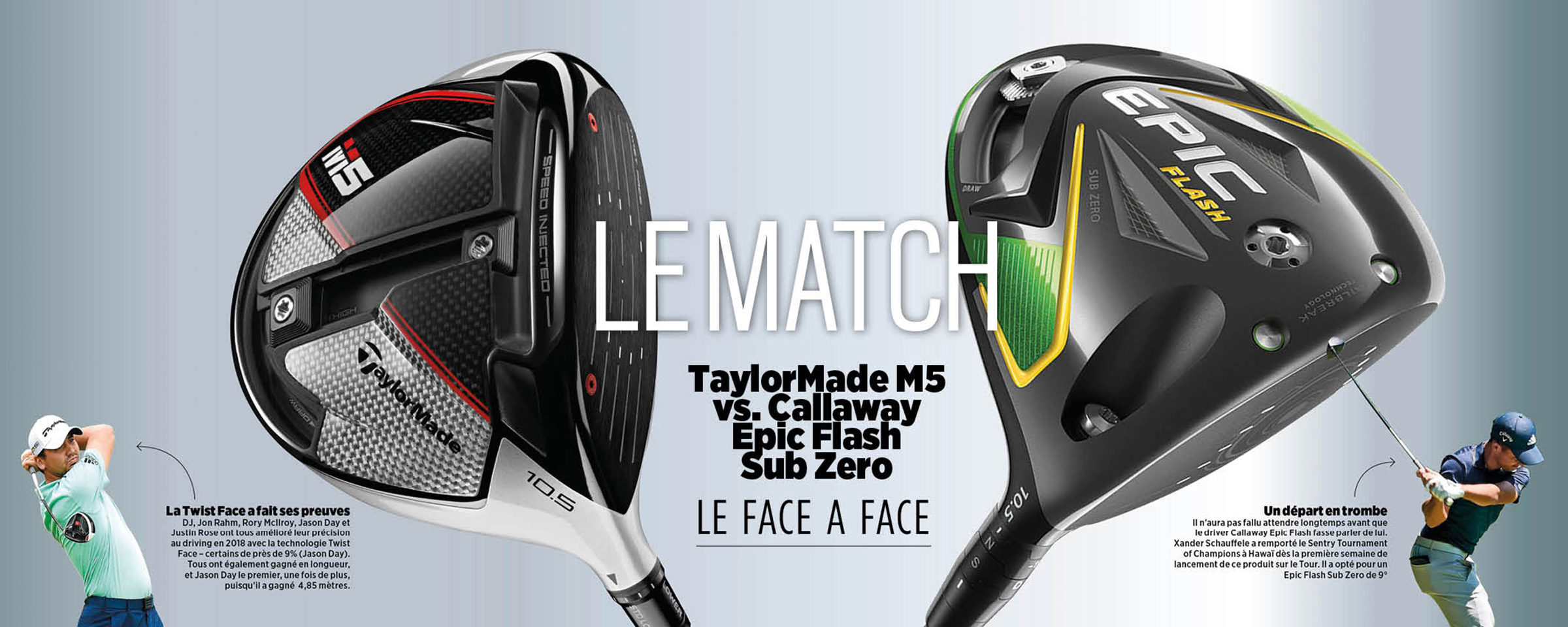 Le Match TaylorMade M5 vs Callaway Epic Flash Sub Zero